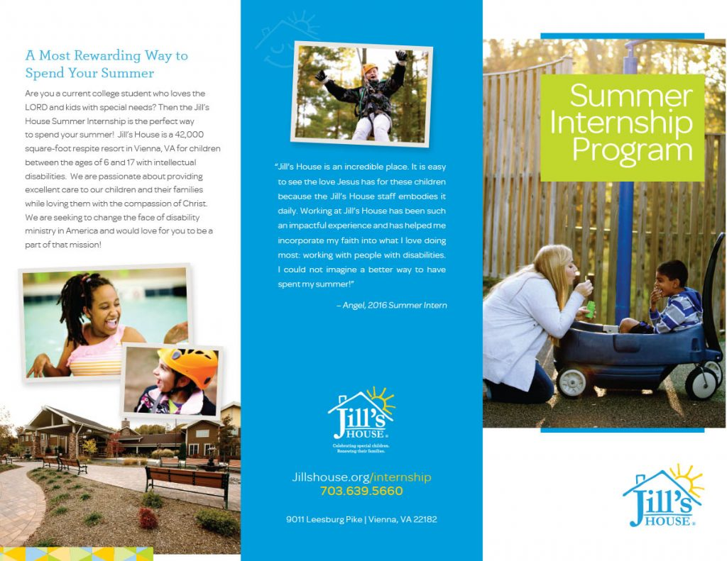 Jill's House Intern Brochure