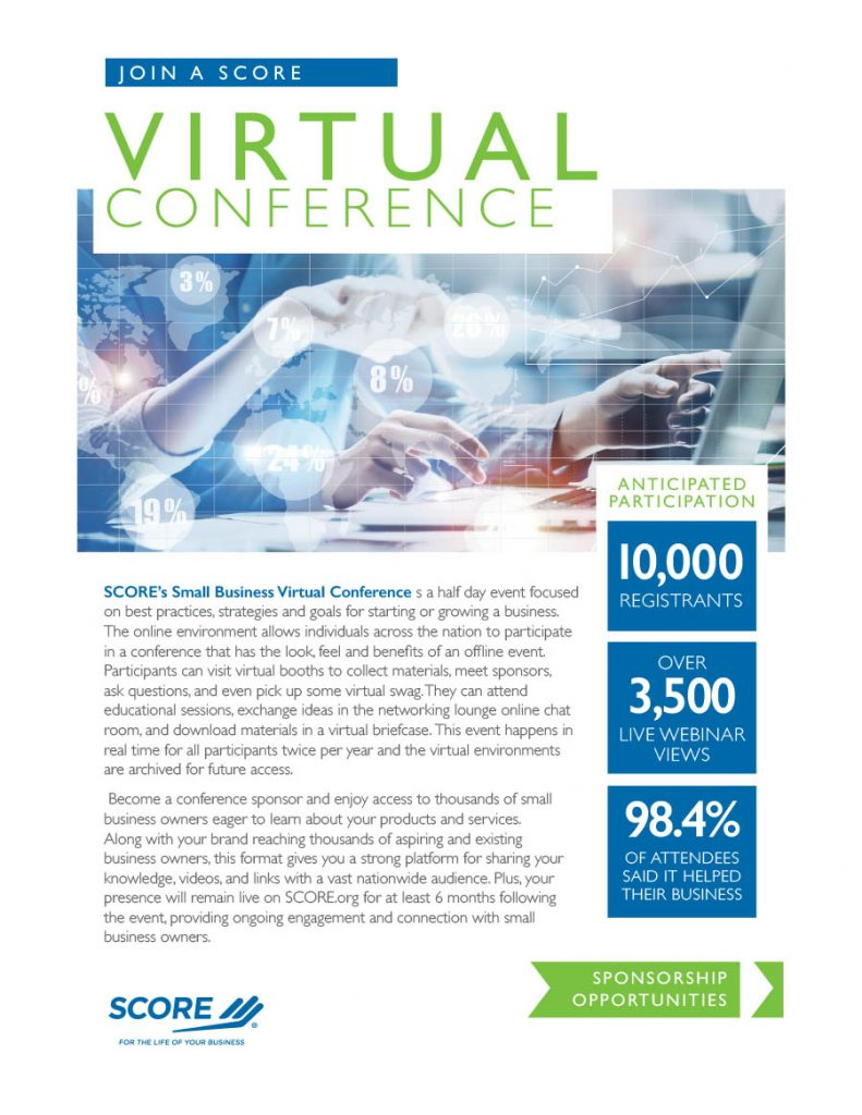 SCORE Virtual Conference Flyer