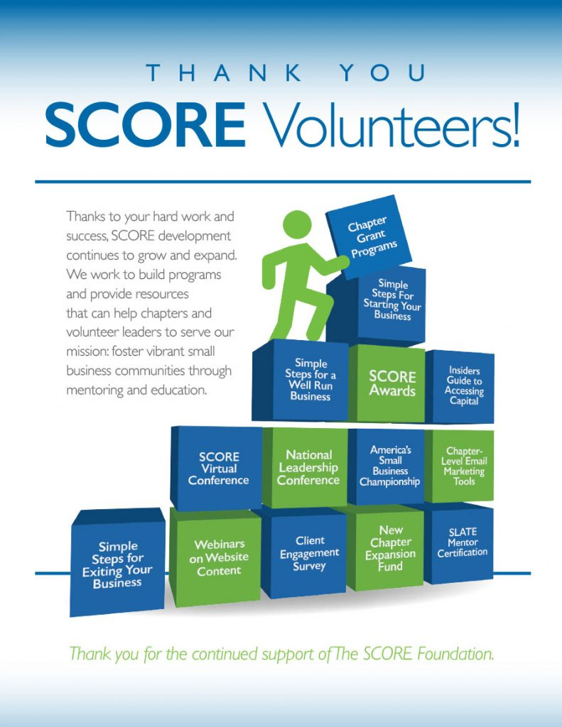 SCORE Volunteers Program Ad